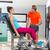cadera · secuestro · rubio · hombre · ejercicio · gimnasio - foto stock © lunamarina