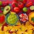 comida · mexicana · nachos · queso · cheddar · restaurante · placa - foto stock © lunamarina