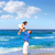 отец · дочь · пляж · детей · ребенка - Сток-фото © lunamarina