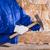 alvenaria · pedreiro · homem · martelo · trabalhando · stonewall - foto stock © lunamarina