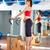 mulher · grávida · pilates · tendão · exercer · cadeira · ginásio - foto stock © lunamarina
