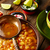 pozole with mote big corn stew from mexico in cooking pot stock photo © lunamarina