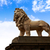 london south bank lion statue near thames stock photo © lunamarina