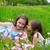iker · nővérek · baba · játszik · hinta · ősz - stock fotó © lunamarina