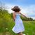 gelukkig · meisje · springen · veld · gras · bos - stockfoto © lunamarina