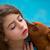 meisje · huisdier · puppy · mascotte · klein · outdoor - stockfoto © lunamarina