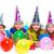 happy kid girls birthday party balloons and gift stock photo © lunamarina