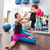 Aerobics woman personal trainer of children girl stock photo © lunamarina