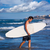 sörfçü · mavi · sörf · plaj · gökyüzü - stok fotoğraf © lunamarina
