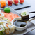 salmone · insalata · wasabi · sesamo · alimentare · ristorante - foto d'archivio © lunamarina