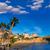 kilátás · rakpart · Spanyolország · tengerpart · naplemente · pálmafák - stock fotó © lunamarina