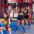спортзал · женщины · штанга · гири · тренировки · осуществлять - Сток-фото © lunamarina