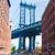 manhattan bridge at brooklyn street new york us stock photo © lunamarina