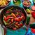 牛肉 · ファヒータ · パン · 唐辛子 · メキシコ料理 · メキシコ料理 - ストックフォト © lunamarina