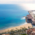 alicante postiguet beach view from santa barbara castle stock photo © lunamarina
