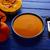 romig · pompoen · soep · Blauw · kom · squash - stockfoto © lunamarina