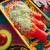 zöld · mexikói · étel · színes · asztal · étterem · tányér - stock fotó © lunamarina