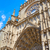 Seville cathedral facade in Constitucion Spain stock photo © lunamarina