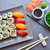 sushis · maki · sauce · de · soja · wasabi · Californie · rouler - photo stock © lunamarina