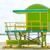 cabina · spiaggia · Miami · Florida · USA · mare - foto d'archivio © lunamarina