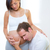 beautiful pregnant woman with husband couple stock photo © lunamarina