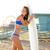 güzel · sörfçü · genç · kız · plaj · Kaliforniya - stok fotoğraf © lunamarina