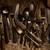 eski · çatal · bıçak · takımı · ahşap · masa · mutfak · tablo · Retro - stok fotoğraf © lunamarina