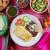 朝食 · メキシコ料理 · 卵 · 唐辛子 · ナチョス · メキシコ - ストックフォト © lunamarina