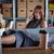 деловая · женщина · служба · склад · кофе · говорить · мобильного · телефона - Сток-фото © lunamarina