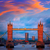 Londra · Tower · Bridge · gün · batımı · thames · nehir · İngiltere - stok fotoğraf © lunamarina