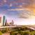 Houston · ufuk · çizgisi · gün · batımı · Teksas · ABD · gökyüzü - stok fotoğraf © lunamarina