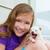 menina · jogar · cachorro · animal · de · estimação · cão · ao · ar · livre - foto stock © lunamarina