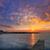 Blauw · jachthaven · zonsondergang · boten · water · reflectie - stockfoto © lunamarina