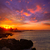puesta · de · sol · mediterráneo · España · playa · sol · naturaleza - foto stock © lunamarina