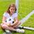 balón · de · fútbol · jugando · campo · fútbol · neto · objetivo - foto stock © lunamarina
