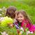 crianças · meninas · jogar · flores · grama - foto stock © lunamarina
