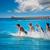 surfeurs · plage · eau · sport · sable · costume - photo stock © lunamarina