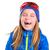 őrült · nevet · vicces · gyerek · lány · tél - stock fotó © lunamarina