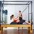 pilates · mujer · gimnasio · fitness · maestro · piernas - foto stock © lunamarina