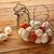 eieren · vintage · kip · vorm · mand · shaker - stockfoto © lunamarina