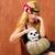 halloween · gyerek · lány · sütőtök · koponya · mosolyog - stock fotó © lunamarina