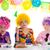 çocuklar · mutlu · yıllar · parti · yeme · palyaço - stok fotoğraf © lunamarina