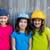 sister and friends sport kid girls portrait smiling happy stock photo © lunamarina