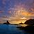 灯台 · 日没 · スペイン · 地中海 · 海 · 空 - ストックフォト © lunamarina