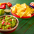 mexicano · nachos · chips · salsa · queso - foto stock © lunamarina
