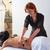 женщины · пациент · назад · массаж · вид · сзади · молодые - Сток-фото © lunamarina