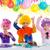 kinderen · gelukkige · verjaardag · partij · clown · meisje - stockfoto © lunamarina