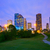houston texas modern skyline at sunset twilight from park stock photo © lunamarina