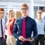 Blond young businessman multi ethnic teamwork stock photo © lunamarina