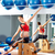 mulher · grávida · pilates · lado · exercer · cadeira · ginásio - foto stock © lunamarina